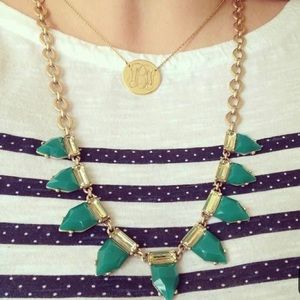 Stella & Dot Emerald Eye Candy Necklace